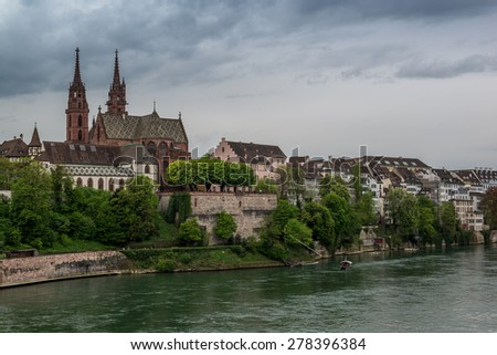 Catheral in Basel, Switzerland - stock photo