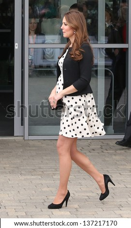 Catherine Duchess of Cambridge attending the Inauguration of Warner Bros. Studios. 26/04/2013 - stock photo