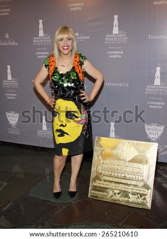 Catherine Martin at the Rodeo Drive Walk Of Style honors Catherine Martin held at the Greystone Mansion in Los Angeles, United States, 02/28/2014.  - stock photo