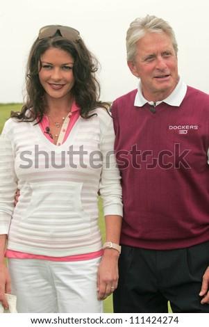 Catherine Zeta-Jones and Michael Douglas at The 9th Annual Michael Douglas and Friends Celebrity Golf Event. Trump National Golf Club, Rancho Palos Verdes, CA. 04-29-07 - stock photo