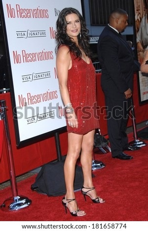 Catherine Zeta-Jones at Premiere of NO RESERVATIONS, Ziegfeld Theatre, New York City, NY, July 25, 2007