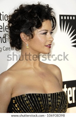 Catherine Zeta-Jones  at the Fourth Annual 'A Fine Romance' Gala to benefit the Motion Picture and Television Fund. Sony Pictures, Culver City, CA. 11-08-08 - stock photo
