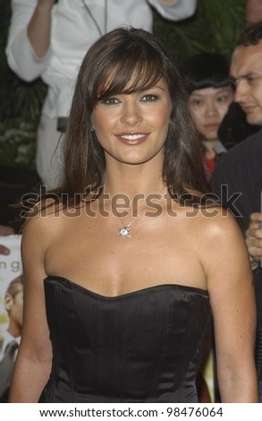 CATHERINE ZETA-JONES at the world premiere of her new movie Intolerable Cruelty, in Beverly Hills. Sept 30, 2003  Paul Smith / Featureflash - stock photo