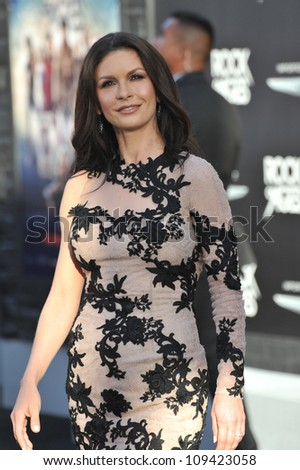 "Catherine Zeta-Jones at the world premiere of her new movie ""Rock of Ages"" at Grauman's Chinese Theatre, Hollywood. June 9, 2012  Los Angeles, CA Picture: Paul Smith / Featureflash"