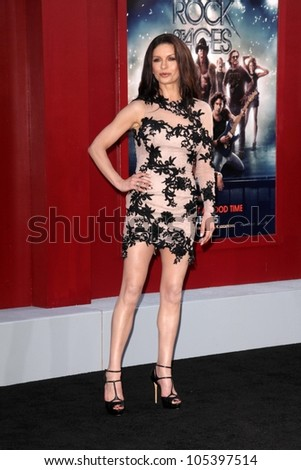 """Catherine Zeta-Jones at the World Premiere of """"Rock of Ages,"""" Chinese Theater, Hollywood, CA 06-08-12 - stock photo"""
