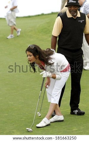 Catherine Zeta-Jones attending The Michael Douglas & Friends Celebrity Golf Benefit, Trump National Golf Club, Rancho Palos Verdes, CA, April 29, 2007