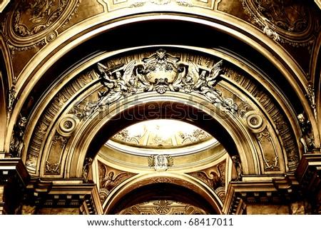 Catholic Cathedral Interior, Arad, Romania - stock photo