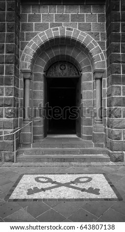 Catholic church door