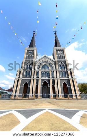 Catholic Church in Chantaburi province,thailand - stock photo
