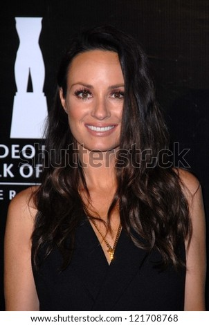 Catt Sadler at the Rodeo Drive Walk Of Style Honoring BLVGARI, Rodeo Drive, Beverly Hills, CA 12-05-12