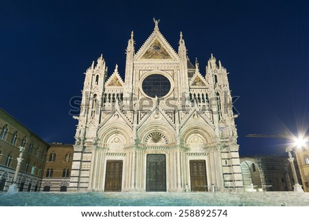 Cattedrale di Siena, Siena , Italy  - stock photo