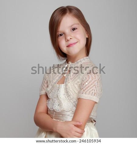 Caucasian adorable princess  - stock photo