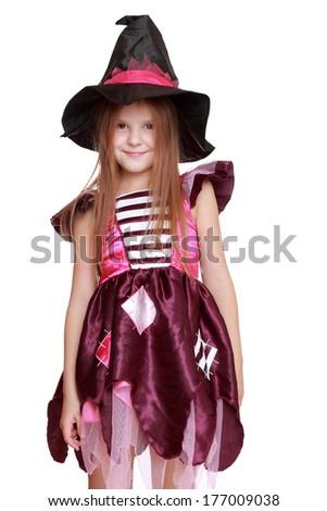 Caucasian magic witch - stock photo