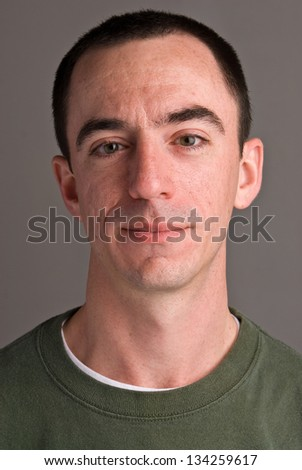 Caucasian Male Headshot Looking Foward