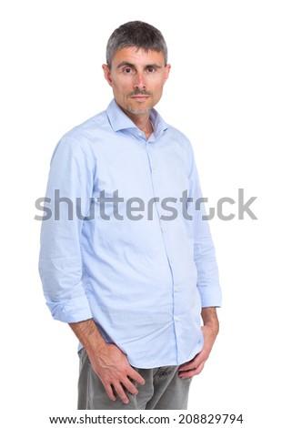 Caucasian man - stock photo