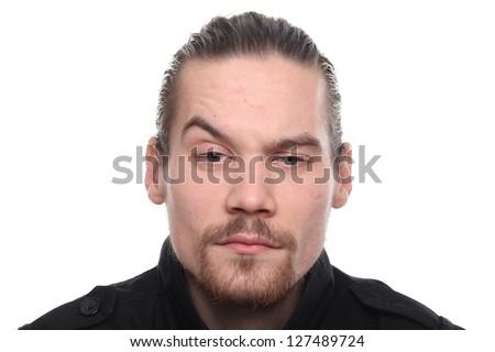 Caucasian man posing - stock photo