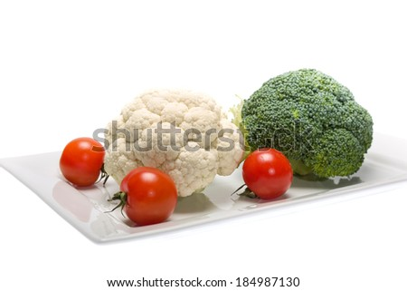 Cauliflower and broccoli are a great healthy vegetables