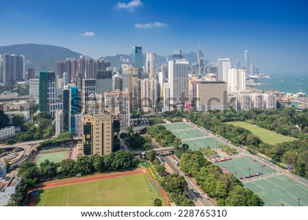 Causeway Bay in Hong Kong China - stock photo