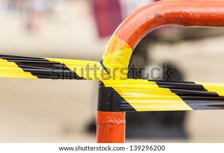 Caution area - stock photo
