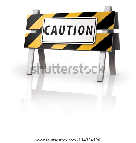 Caution Barrier - stock photo