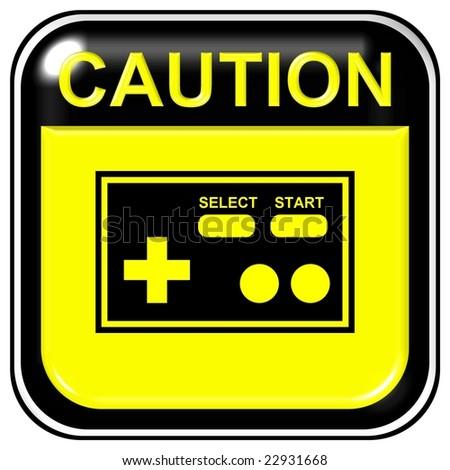 Caution - game - stock photo
