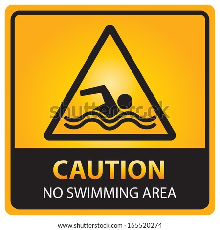 Caution no swimming area sign.JPG