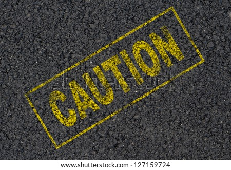 Caution sign background