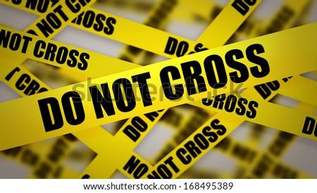 caution tape do not cross background stock illustration 168495389