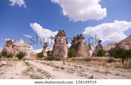Cave city in Cappadocia, goreme,  Turkey