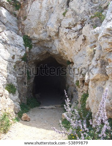 Cave Entrance - stock photo