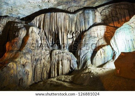 Cave Nguom Ngao in Vietnam - stock photo