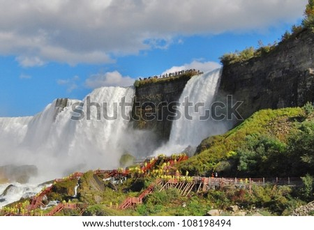 Cave of the Winds at Niagara Falls, USA - stock photo