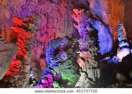 Caves in Guilin, Guangxi Provine, China - stock photo