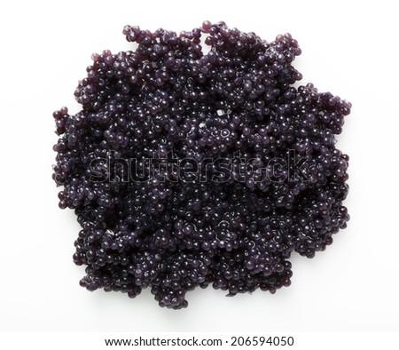 Caviar group on white background - stock photo