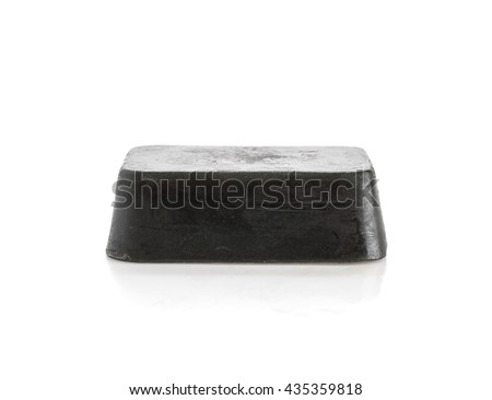 caviar soap on white background - stock photo