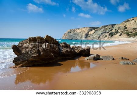 Cavo Paradise beach,Kos Island,Greece - stock photo