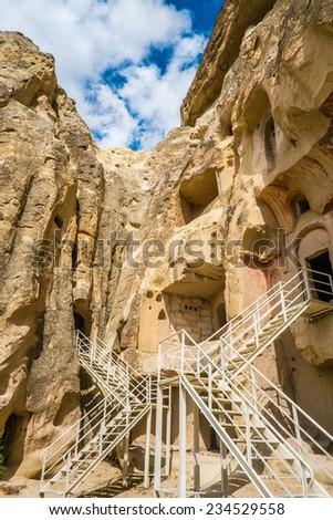 Cavusin Cave - Cappadocia, Turkey - stock photo