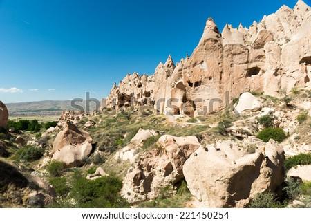 Cavusin Open Air Museum, Cappadocia, Turkey - stock photo