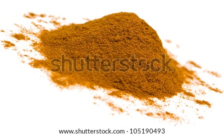 Cayenne pepper isolated on white background.