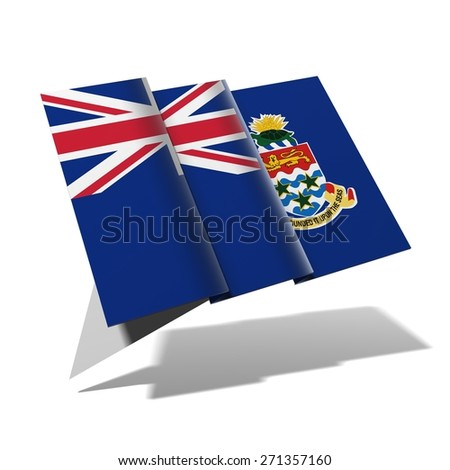Cayman Islands flag 3D banner - stock photo