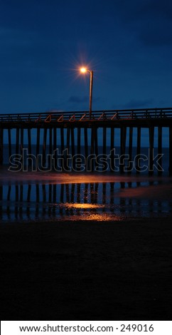 Cayucos Pier at Night - stock photo