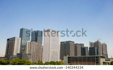 CBD building in Chengdu - stock photo