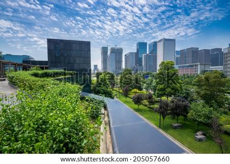 CBD of Chengdu - stock photo