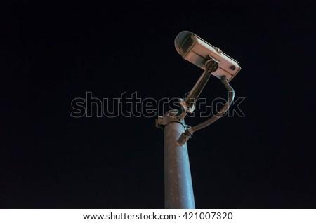 CCTV black background - stock photo