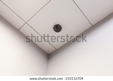 CCTV Camera at the corner of the meeting room - stock photo