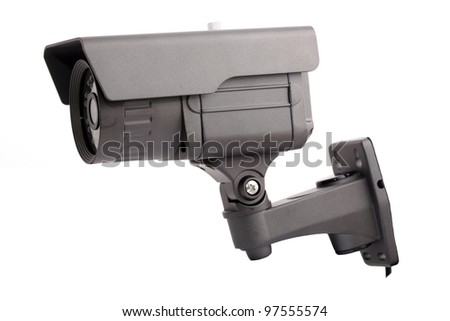 CCTV camera isolated on white