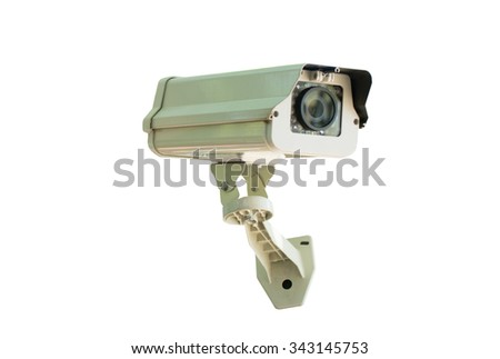 cctv camera  isolated on white background with clipping  path included