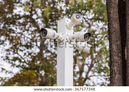 CCTV camera security the green park.