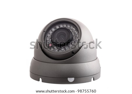 CCTV dome camera - stock photo