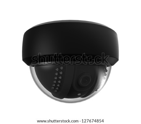 CCTV Dome Surveillance Camera - stock photo